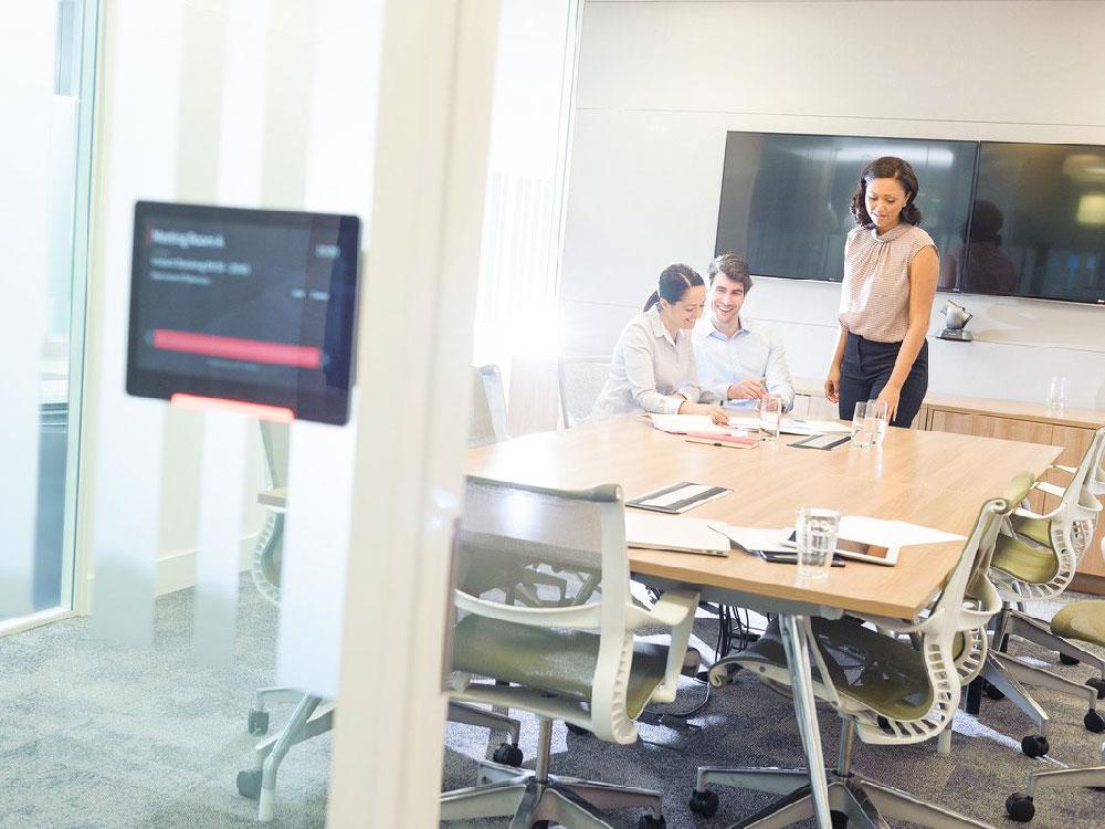 L'écran Condeco vous permet d'optimiser la réservation des salle de réunion